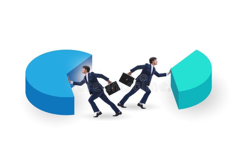 Concept d'analytics d'affaires avec le graphique circulaire photographie stock