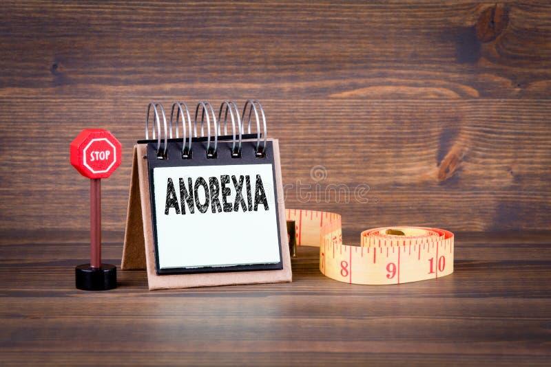 Concept d'anorexie, de santé et de nutrition images stock