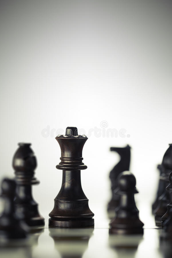Concept d'anticipation de risque, jeu d'échecs image libre de droits