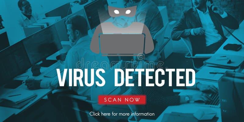Concept d'antivirus de Malware de Spyware de virus de Scam photos libres de droits