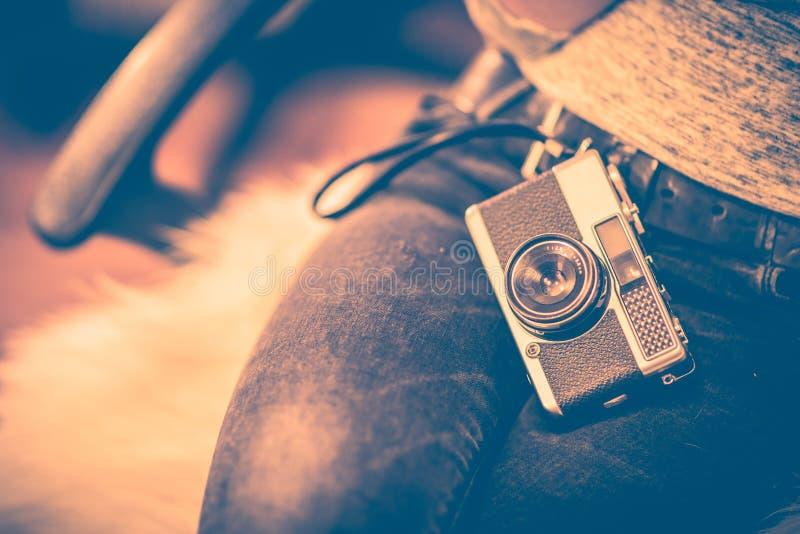 Concept d'appareil-photo de vintage photos libres de droits