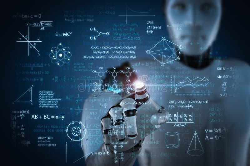Concept d'apprentissage automatique illustration de vecteur