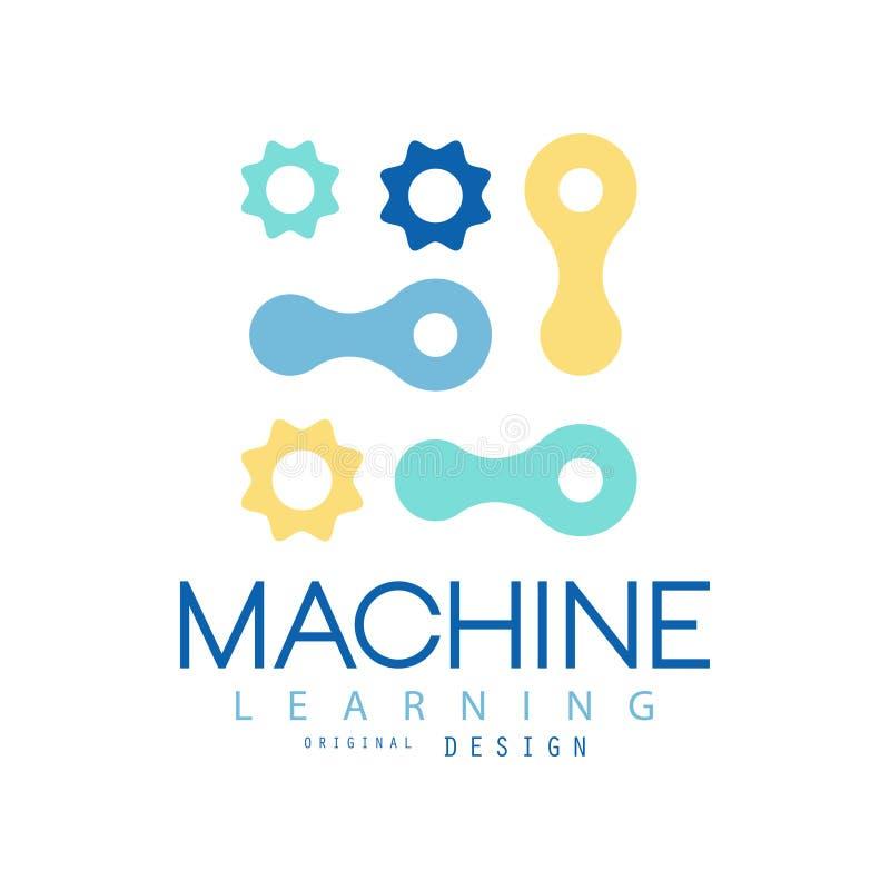 Concept d'apprentissage automatique et d'intelligence artificielle Calibre de conception de technologie Élément plat de vecteur p illustration libre de droits