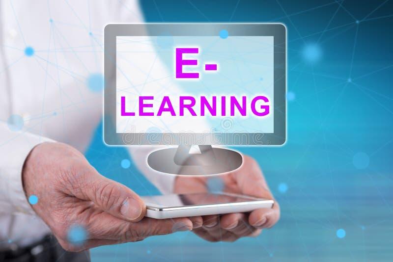 Concept d'apprentissage sur internet image stock