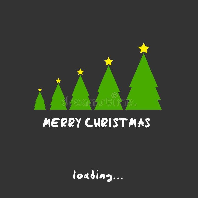 Concept d'arbres de Joyeux Noël illustration stock