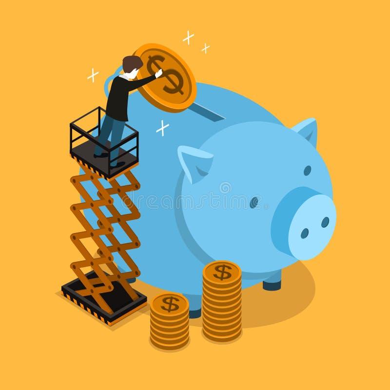Concept d'argent d'économie illustration stock