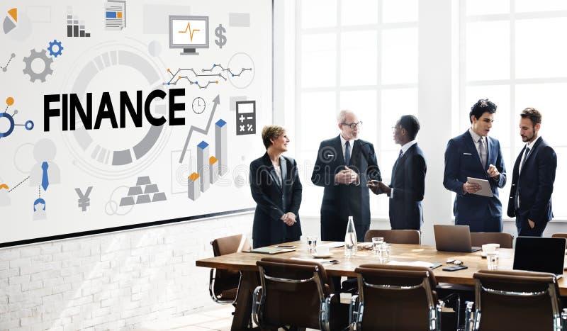 Concept d'argent d'économie d'opérations bancaires de comptabilité de finances images libres de droits