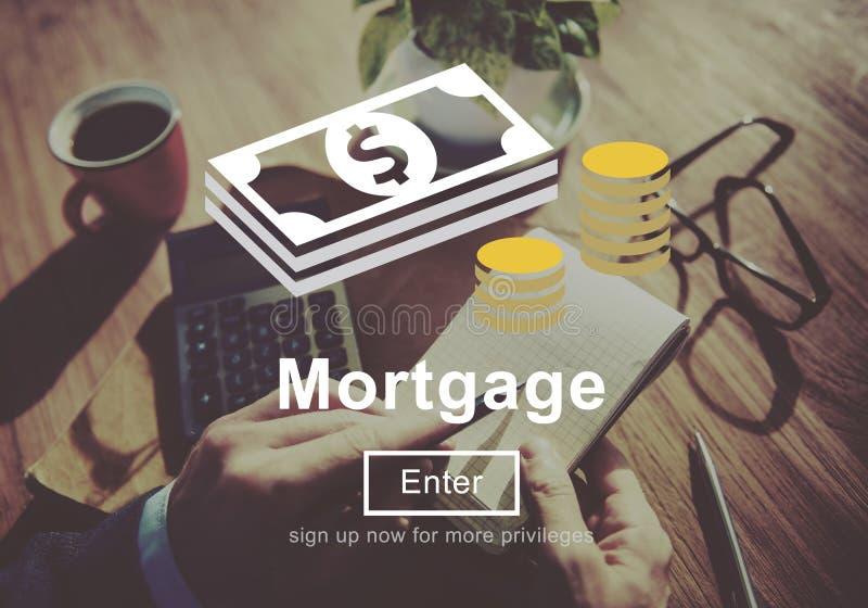 Concept d'argent d'emprunt d'opérations bancaires de prêts hypothécaires photos libres de droits