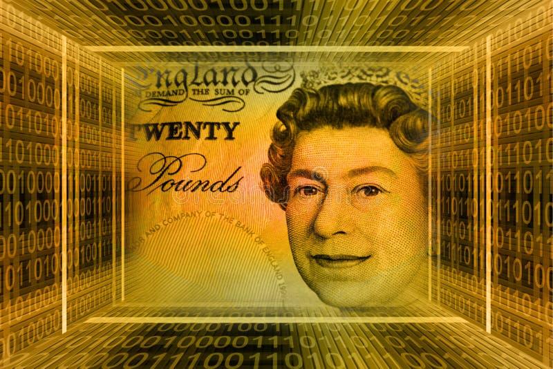 Concept d'argent, Grande-Bretagne illustration stock