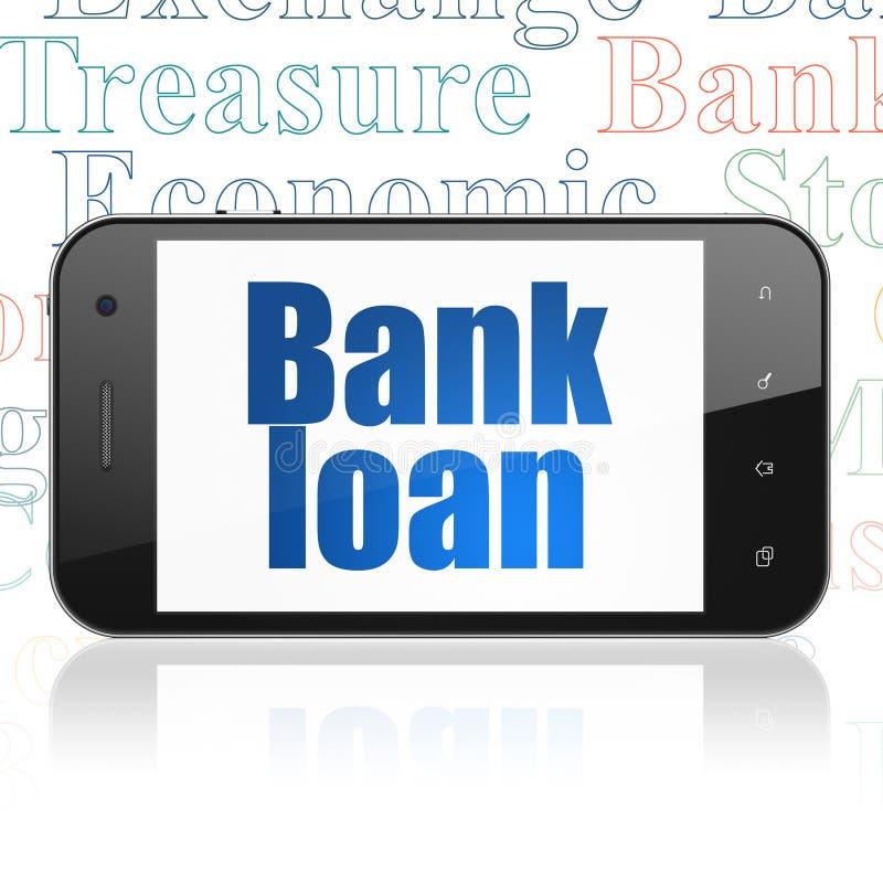 Concept d'argent : Smartphone avec le crédit bancaire sur l'affichage illustration libre de droits