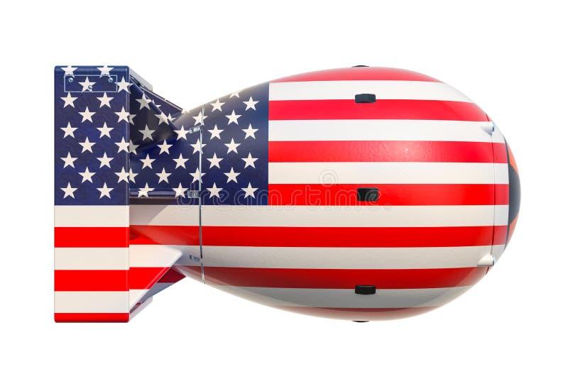 Concept d'arme nucléaire des Etats-Unis, rendu 3D illustration libre de droits