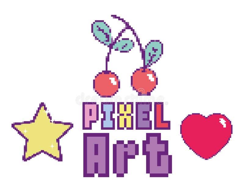 Concept d'art de pixel illustration libre de droits