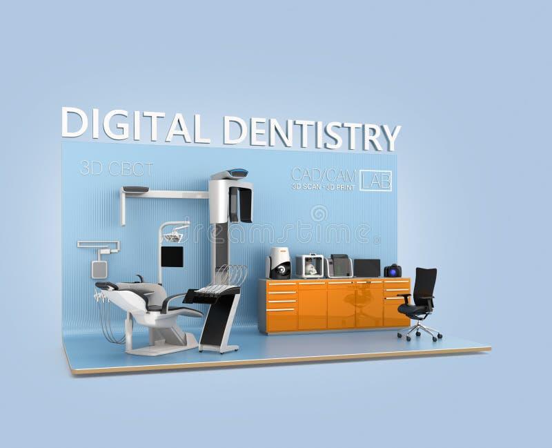 Concept d'art dentaire de Digital illustration libre de droits