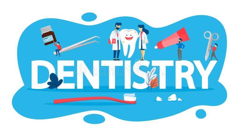Concept d'art dentaire Idée des soins dentaires et de l'hygiène buccale illustration libre de droits