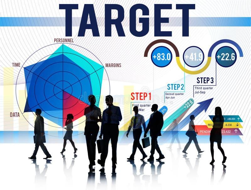 Concept d'aspiration de succès de but d'accomplissement de cible illustration libre de droits