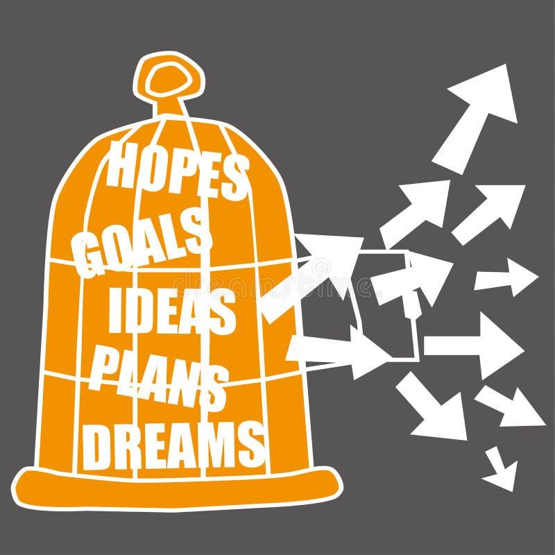Concept d'aspirations illustration stock