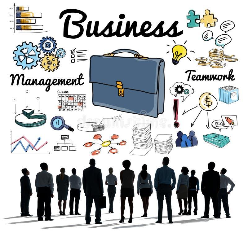 Concept d'aspirations de vision de personnes de groupe d'affaires illustration de vecteur