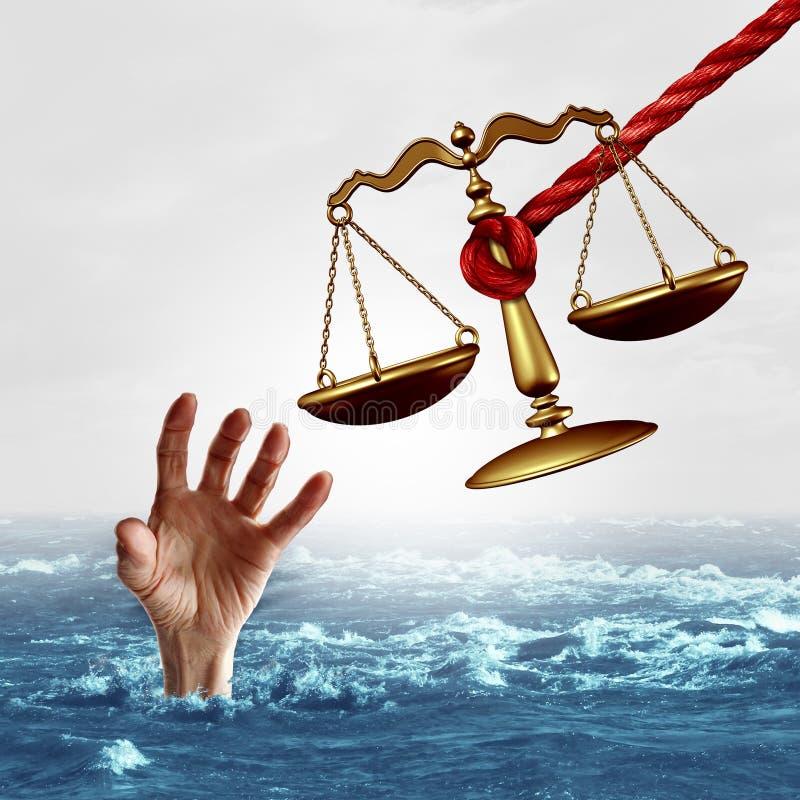 Concept d'assistance judiciaire illustration libre de droits
