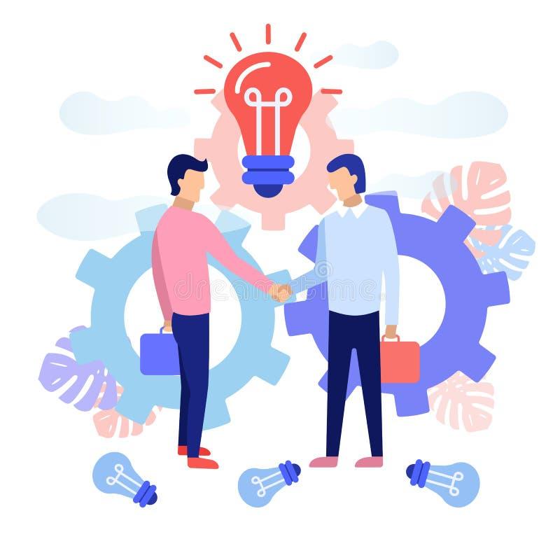 Concept d'association d'affaires illustration stock