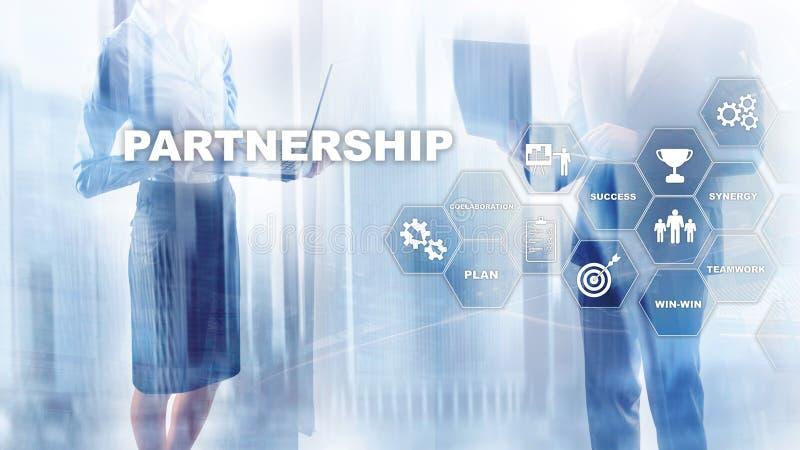 concept d'association d'affaires Affaire réussie après la grande réunion E photo stock