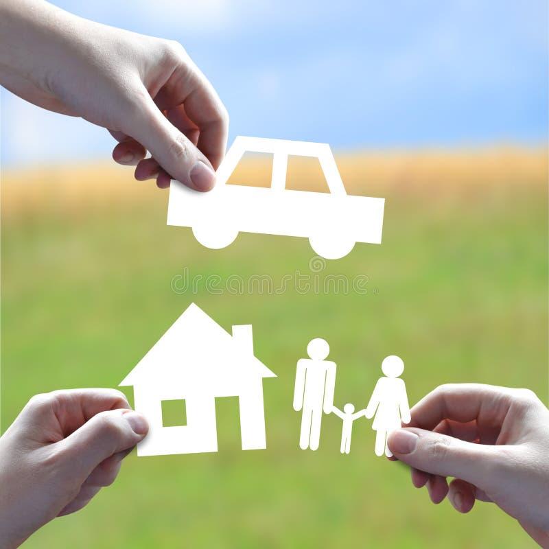 Concept d'assurance image libre de droits
