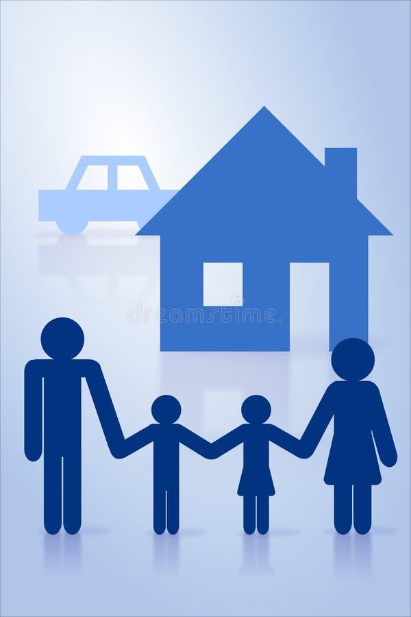 Concept d'assurance illustration libre de droits