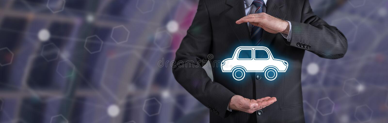 Concept d'assurance auto photos stock