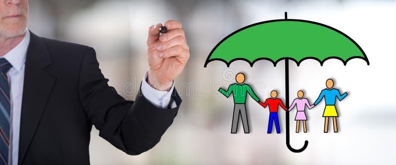 Concept d'assurance de vie de famille image libre de droits