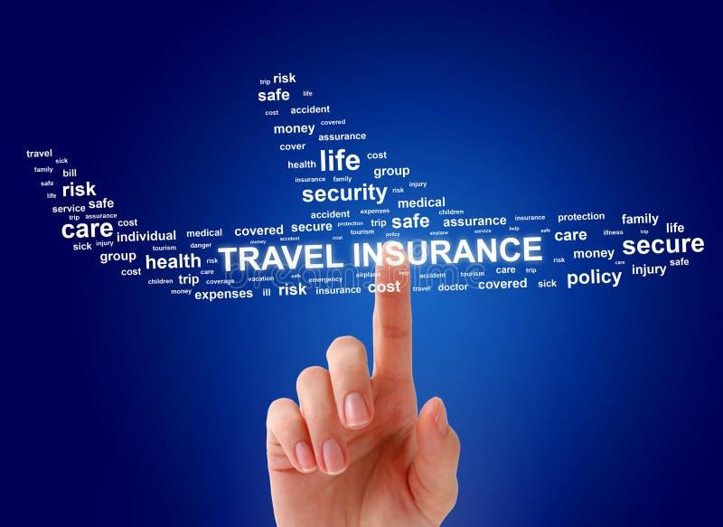 Concept d'assurance de voyage photo stock