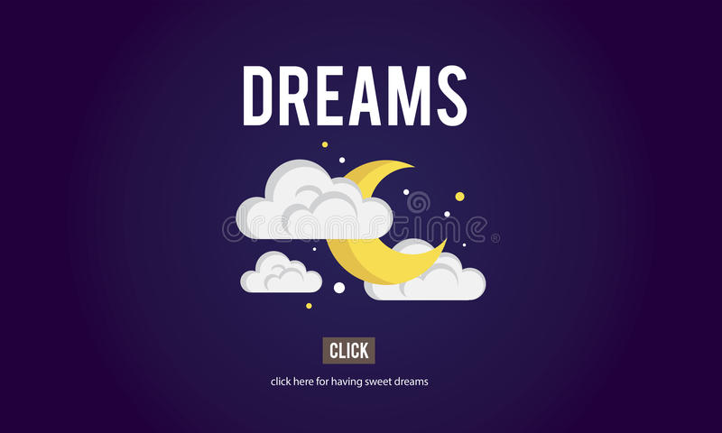 Concept d'attente d'inspiration d'aspirations de Taget de but de rêves illustration libre de droits