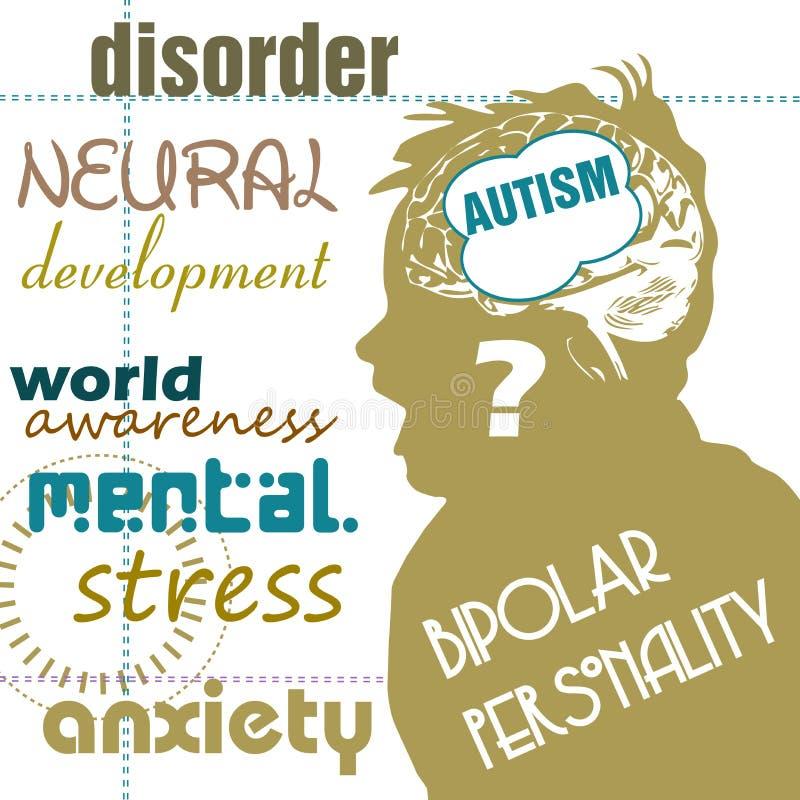 Concept d'autisme illustration stock