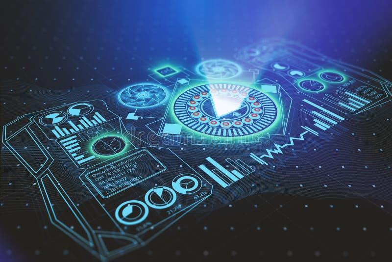 Concept d'avenir, d'innovation et de media illustration libre de droits