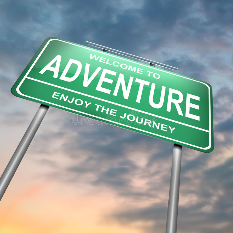 Concept d'aventure. illustration de vecteur