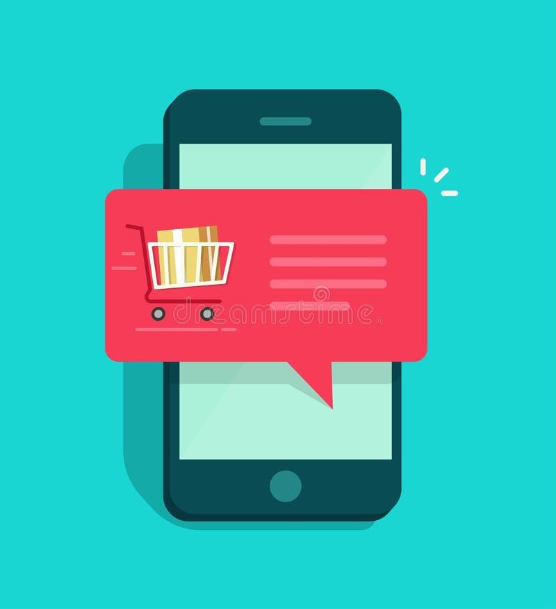 Concept d'avis de commande en ligne, commerce électronique, service de distribution d'ordre illustration libre de droits
