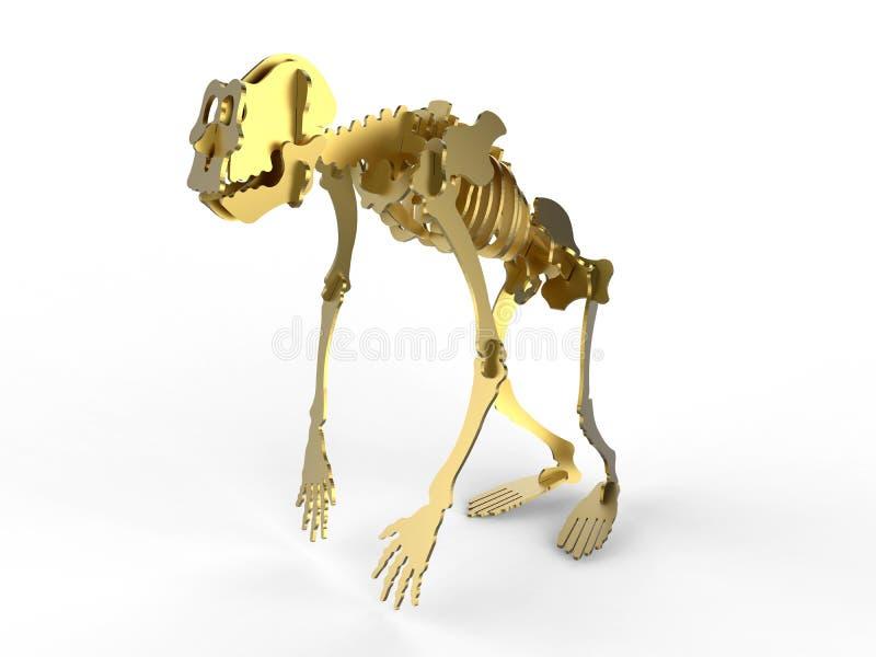 Concept d'or d'évolution illustration stock