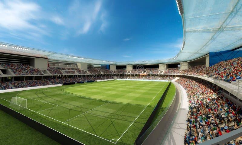 concept 3d de stade de football serré du football photos stock