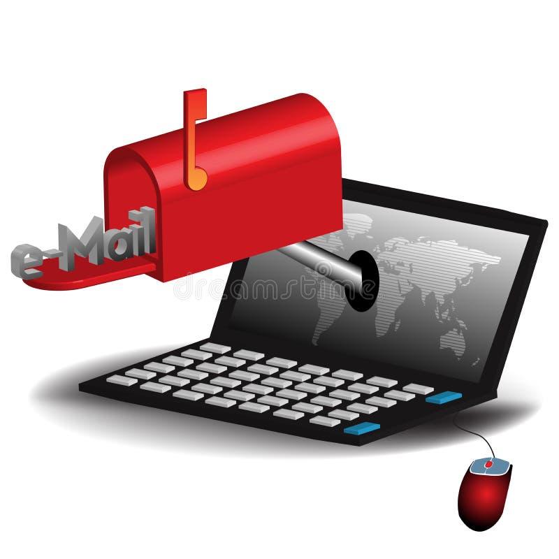 Concept d'email illustration libre de droits