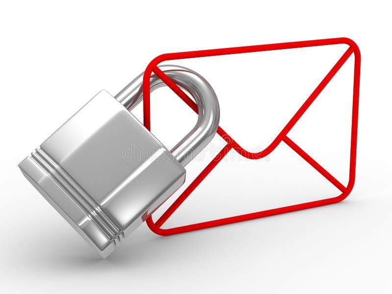 Concept d'email sur le fond blanc illustration libre de droits