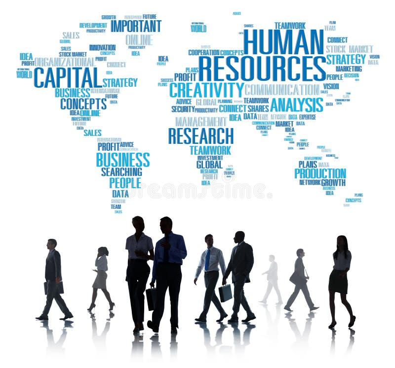 Concept d'emploi de profession des travaux de carrière de ressources humaines photographie stock libre de droits