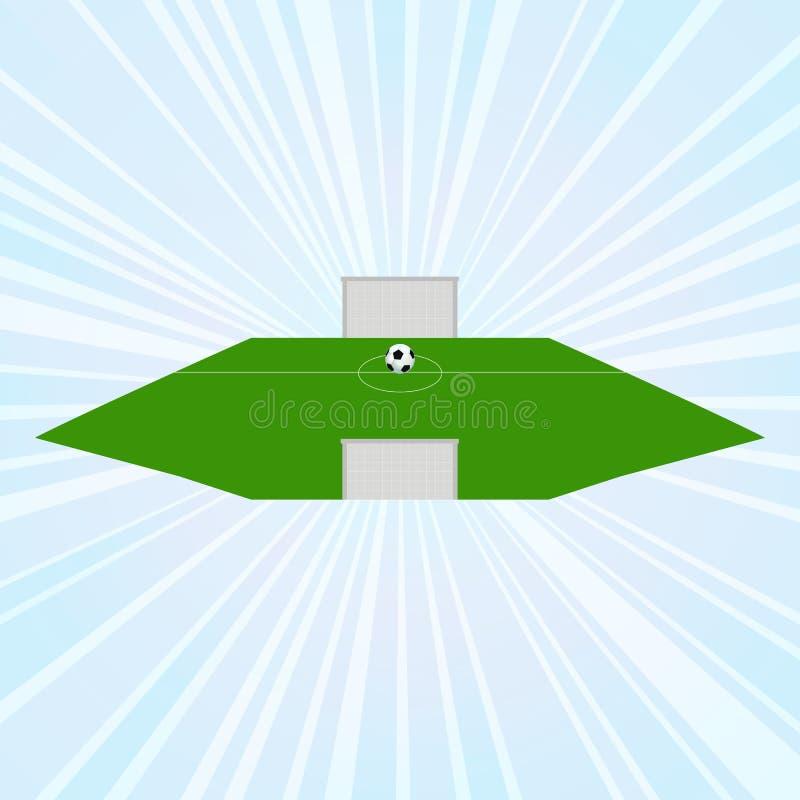 Concept d'enjeu : le terrain de football illustration stock