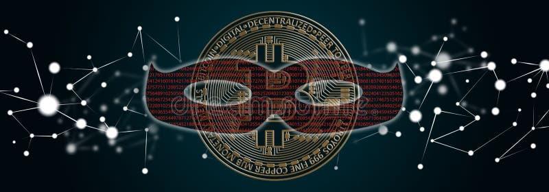 Concept d'entailler de bitcoin illustration de vecteur
