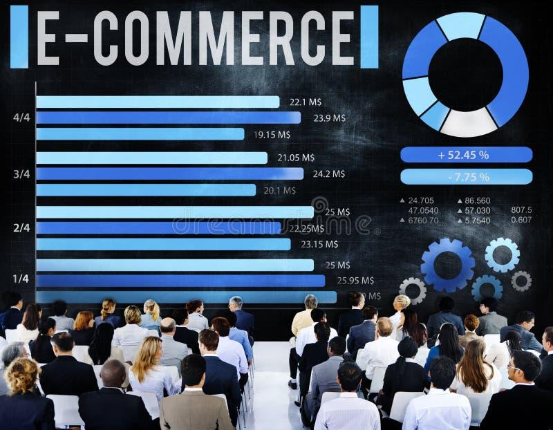 Concept d'entreprise de stratégie de marketing en ligne de commerce électronique photo libre de droits