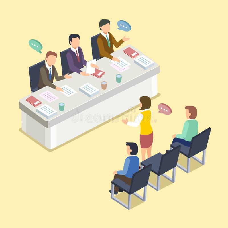 Concept d'entrevue de groupe illustration stock
