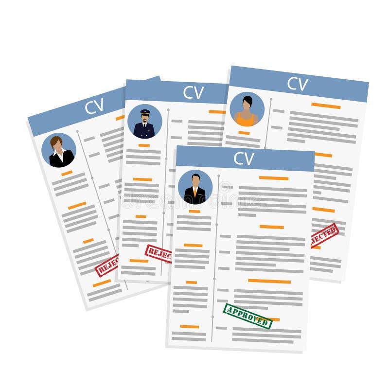 Concept d'entrevue d'emploi illustration stock