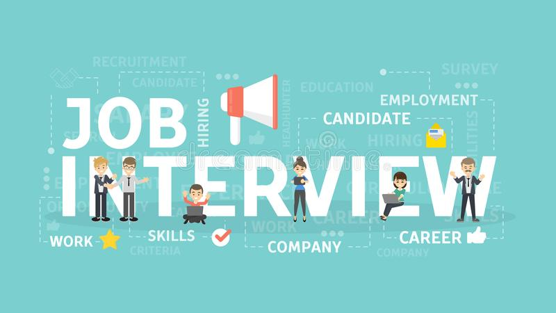 Concept d'entrevue d'emploi illustration libre de droits