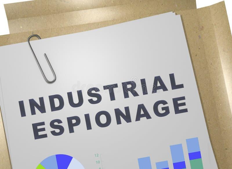 Concept d'espionnage industriel illustration libre de droits