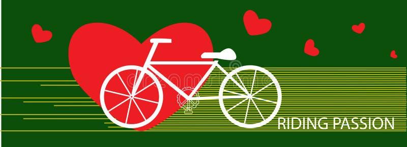 Concept d'exercice de passion d'équitation de bicyclette de vecteur illustration libre de droits
