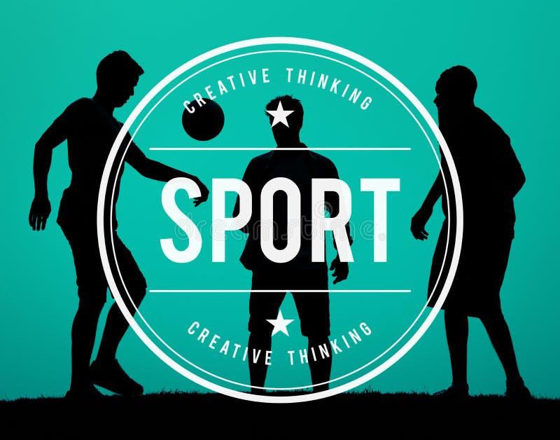 Concept d'Exercise Workout Competition d'athlète d'activité de sport illustration stock