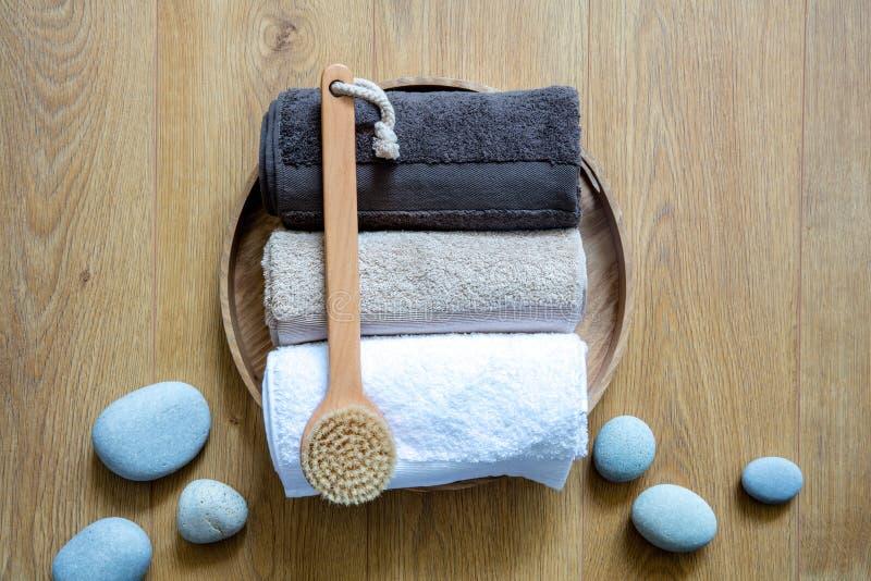 Concept d'exfoliation frais, de bien-être propre et de bain turc masculin image libre de droits