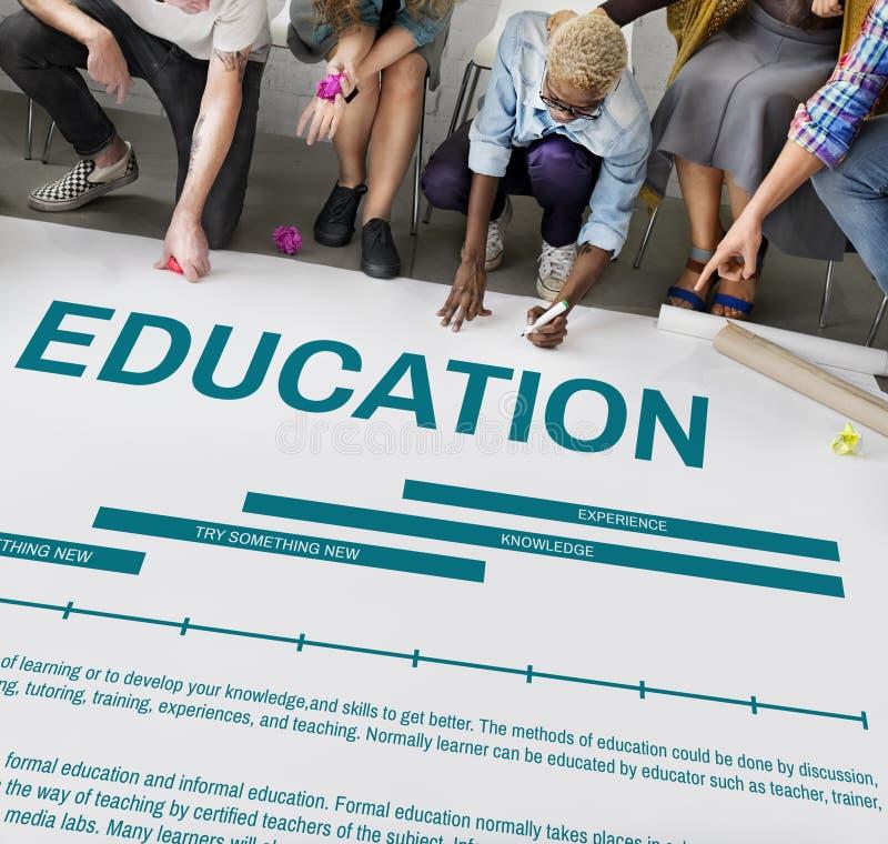 Concept d'expérience d'étude de la connaissance d'éducation images stock